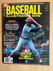 1976 Baseball Illustrated Magazine Fred Lynn Boston Red Sox Cover NM