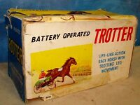 Vintage Battery Operated TROTTER 6088 Toy Racing Horse IOB J411
