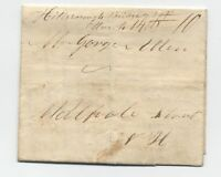 1839 Hillsborough Bridge NH manuscript stampless folded letter [5249.82]
