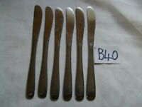 VINTAGE DAVID MELLOR HM & CO THRIFT STAINLESS STEEL CUTLERY TABLE KNIVES X 6