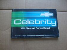 1989 Chevrolet Celebrity Owners Manual original