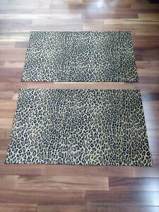 Ralph Lauren ARAGON Leopard Guinevere Galahad 2 KING Size Pillow Shams New!