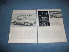 "1960 Fiat 850 Abarth Allemano Vintage Info Article ""Chock-Full of Charge!"""