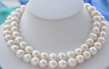New 9-10MM NATURAL BAROQUE SOUTH SEA WHITE PEARL NECKLACE 34""