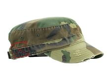 Enzyme Washed Camouflage Military Castro Cap-camo green(#9029a)