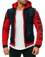 CIPO & BAXX CONWAY MENS JEANS HOOD JACKET VEST DENIM ALL SIZES