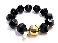 Kate Spade Cut to the Chase Bracelet NWT Modern Twist on Pearls! Black Pop!