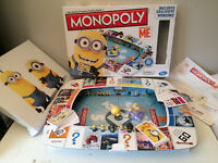 DESPICABLE ME MONOPOLY Board Game 100% Complete with Exclusive Minions Hasbro AN