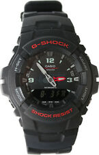Casio G-100-1BV Men's G-Shock Ana-Digital Watch Dual Time Black Resin Alarm New