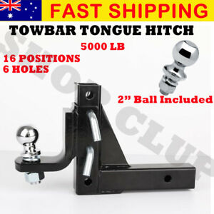 Tow bar Adjustable Towing Ball Mount Tongue Hitch Trailer 4WD Car Bike Rack Boat