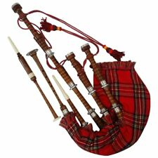 SL Scottish Great Highland Bagpipe Rosewood Natural Finish Silver mounts