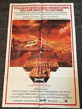 DAMNATION ALLEY Original One-Sheet Poster 1977 VG+