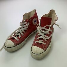 Vtg 80s Converse Chuck Taylor Red Korea Made Mens Sneakers Shoes Sz 9.5