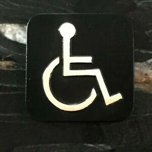 Handicap Polished Brass Bathroom Sign
