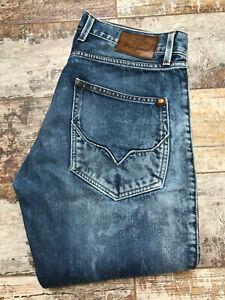 Pepe Jeans Men's Faded Slim Fit Blue Button Jeans Size W32/L34