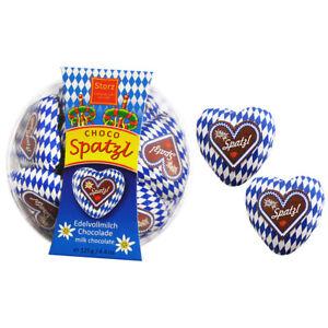 "Wiesn Herz ""Spatzl"" in Minidose 125 g / Schokolade Herzen"