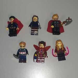 MINIFIGURE SUPER HEROES MARVEL AVENGERS COMPATIBILI LEGO 6pz
