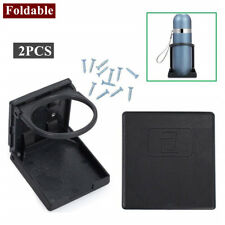 2PCS BLACK Foldable Cup Drink Holder Plastic storage CAR TRUCK BOAT VAN SUV