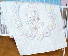 BEAR WITH BALLOONS CRIB QUILT TOP EMBROIDERY PATTERN, From Jack Dempsey Inc.