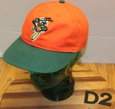 GREENSBORO GRASSHOPPERS YOUTH BASEBALL HAT ORANGE/GREEN STRAPBACK VGC D2