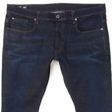 Mens G-Star 3301 Tapered Stretch Tapered Blue Jeans W40 L32
