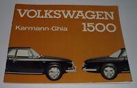 Betriebsanleitung VW Karmann-Ghia / Karmann Ghia 1500 Stand August 1963!