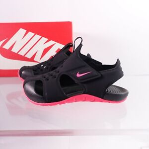 Nike Little Kid's Sunray Protect 2 Sandals 943826-003 Black/Racer pink