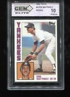 Don Mattingly RC 1984 Topps #8 New York Yankees Rookie GEM Elite 10 Pristine