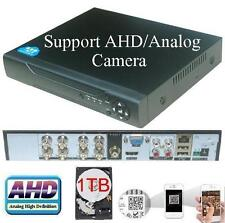 Sunvision CCTV 8 Ch AHD Hybrid 720p DVR for IP/AHD/Analog 3-in-1 Camera 1TB HDD