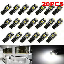 20 PCS White T10 5050 5SMD LED Car Light Wedge Lamp Bulbs Super Bright DC12V