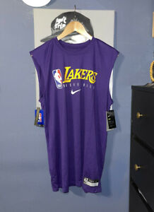 Nike NBA Los Angeles Lakers Player Issued Practice Sleeveless Large CD2772-547