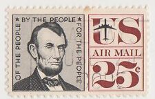 (UST-174) 1959 USA 25c Lincoln air mail (O)