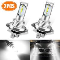 2PCS H7 LED Headlight High Low Beam Bulb 6000K White 110W DRL Driving Fog Light