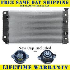 Radiator With Cap For Chevy Gmc Fits S10 Blazer S15 Jimmy Bravada 4.3 705WC