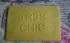 MISS SELFRIDGE TRES CHIC YELLOW CLUTCH Faux Leather Used once