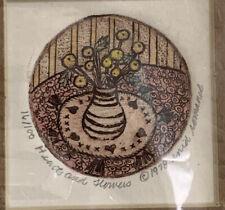 Enid Romanek Color signed 16/100 Original Etching Illustration For Book Teddy