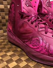 Nike Air Max Hyperposite Plum Basketball Running Shoes Mens 12 Pink Foil Red