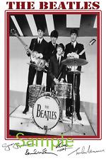 The Beatles Lennon McCartney Starr Harrison large signed 12x18 inch photograph