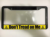 DON'T TREAD ON ME JOIN OR DIE 2ND AMENDMENT USA Black License Plate Frame NEW