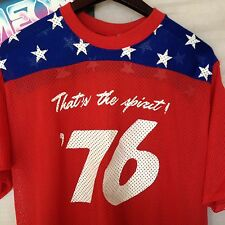 Vintage Spirit of 76' Men's Mesh Jersey Red White Blue Patriotic Shirt Size L