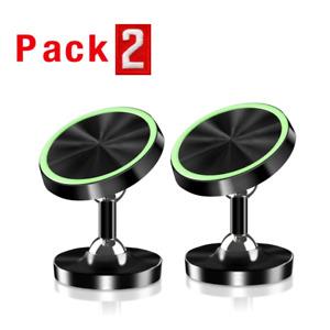 Soporte Sostenedor Magnetico del Tablero de Carro Coche For Samsung iPhone 2PACK