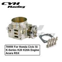 70MM Aluminum Throttle Body For Honda Civic Si K-Series K20K20A Engine Acura RSX