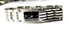 2001 Bulova Crystal Bezel Black Dial Quartz Wristwatch 17mm 96L50