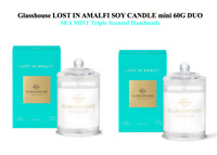 15%OFF Glasshouse Amalfi 2x60g mini Soy Candle Coast Sea Mist Triple Scented