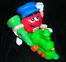 M&M CANDY RED CHRISTMAS TREE TRAIN TOY FIGURE CAKE TOPPER PARTY FAVOR