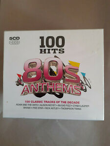 Various Artists : 100 Hits: 80s Anthems CD Box Set 5 discs (2014) UNOPENED
