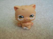 Littlest Pet Shop #490 Light Orange Tan Persian Kitten Kitty Cat with White Arou