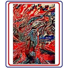 "IKEA 2016 Art Event Poster 24""x36""Painting 318""Jill Greenberg Oil Paint Red Blue"
