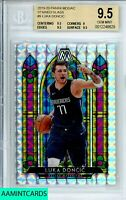 2019-20 PANINI MOSAIC Luka Doncic #9 STAINED GLASS PRIZM BGS 9.5 GEM MINT