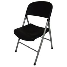 More details for bolero black foldaway utility chair (pack of 2) catering garden indoors ce693